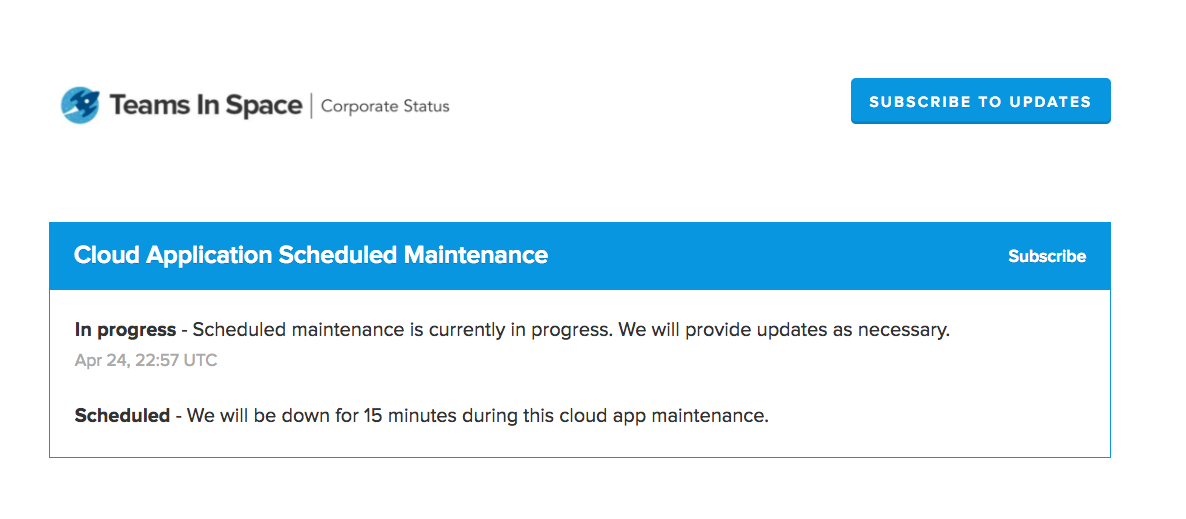 Tis scheduled maintenance
