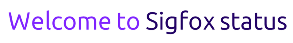 Welcome to sigfox status